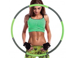 BehomeBefit Weighted Exercise Weight Loss Hula Hoop for Adults & Children 8 Section Adjustable Design High Quality Foam Padded