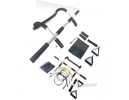 Complete Home Workout Package Pull Up Bar Resistance Bands Set Door Pull Up Bar Multi-Functional Pull Up Bar