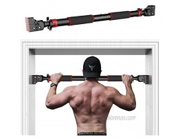 HANDSONIC Pull Up Bar for Doorway No Screws Required Chin Up Bar Adjustable Dip Bars for Home Gym Exercise Fitness Up to 440 LBS