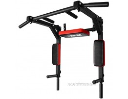 ONETWOFIT Multifunctional Wall Mounted Pull Up Bar Chin Up bar Dip Station for Indoor Home Gym Workout Power Tower Set Training Equipment Fitness Dip Stand Supports to 440 Lbs OT126