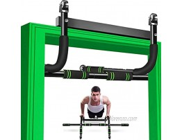 Pull Up Bar for Doorway Multifunctional Doorframe Chin Up Bar with Ab Roller Wheel Upper Body Workout Bar Door Pullup Bar- No Screw Indoor Home Fitness Strength Training Pullup Bar