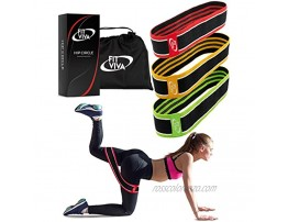 Fabric Resistance Bands Set Booty Hip Bands for Legs Shoulders and Arms Exercises Perfect for Fitness Glute or Squat Workout 3 Non-Rolling Circle Bands for Women and Men 3 Bands Set