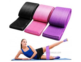 GSRING Resistance Exercise Bands Non Slip Booty Bands Elastic Exercise Bands Home Workout Bands for Legs and Butt Fitness Bands for Women Hip Circle Bands for Squat Glute Training 3 Pack