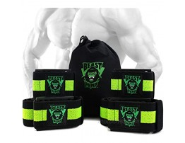Occlusion Bands Restriction of Blood Flow Muscle Straps Training for Arms and Legs 4 Pack