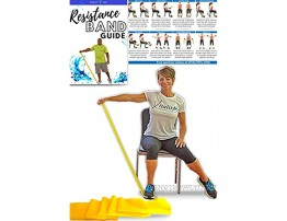 Resistance Band for Seniors: Exercise Band specifically Created for Seniors with Light Resistance and Longer Length + Instruction Guide. Latex Free. Exercise  Stretching  Physical Therapy