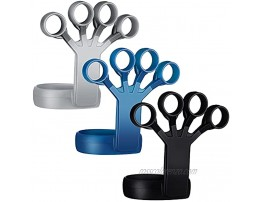 6 Pieces Hand Grip Strengthener Forearm Strengthener Finger Strengthener Hand Exercisers Silicone Grip Strength Trainer Relieve Wrist Finger Exerciser for Hand Therapy Guitar Rock Climb