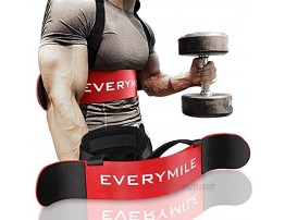 EVERYMILE Fitness Arm Curl Blaster Sports Arm Blaster Biceps Triceps Big Arms Bodybuilding Bicep Isolator Muscle Strength Weight Lifting Thick Gauge Aluminum Adjustable Robust Rivets