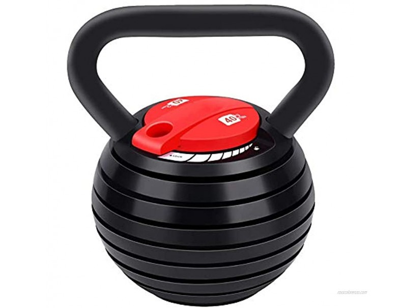 Adjustable Kettlebell,10-40LBS Kettle Bells Weight Sets for Women Men Kettlebell 35 Lbs 30 Lbs 25 Lb 20 Lb 15 Lbs Kettlebell Weights Sets,Free Weights Kettlebell Set for Home Fitness