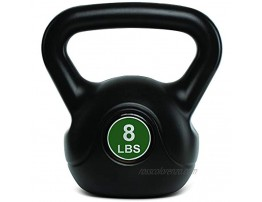TKO Kettlebell   Strength Training Kettlebells l Dumbbell Weight For Home Gym Workouts l Men and Women l Weightlifting Fat Burning   Plastic Shell 8 lbs  3.6 kg- Black Green