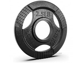 """Synergee Cast Iron Weight Plates with 2"""" Opening for Bodybuilding Olympic & Power Lifting Workouts. Metal Weight Plates Sold in Singles Pairs & Sets. Available from 2.5 to 45 Pounds."""