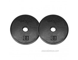Yes4All Standard 1-inch Cast Iron Weight Plates 5 7.5 10 15 20 25 lbs Single & Pair
