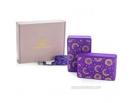 Unique Wellness Yoga Block 2 Pack with Strap