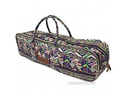 All-in-one Yoga Mat Bag with Pocket and Zipper Patterned Canvas