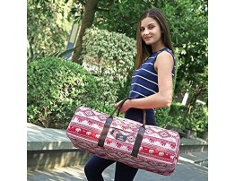 FODOKO Yoga Mat Bag Carrier for Women 26L X 8.5''D Patterned Canvas with Pocket and Zipper