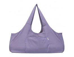Foroost Yoga mat bag large 26 inch [large pocket and inside zipper pocket] sling Light and durable canvas tote Yoga Mat Duffle bag Light purple