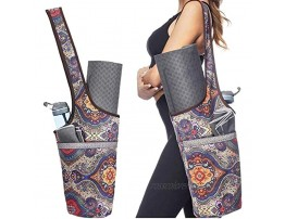 Kokiri Yoga Mat Bag Yoga Mat Tote Sling Carrier for Women Yoga Mat Carrier Fit Most Size Mats with Large Side Pocket & Zipper Pocket Yoga Bags & Carriers Fits All Your Stuff