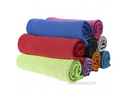 Cooling Towel, Ice Towel , Cooling Neck Wrap Scarf,Sweat Workout Towels Microfiber Towel Soft Breathable Chilly Towel for Sports Gym Yoga Running Camping Fitness Pink