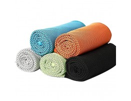 WSNM 5 Pack Cooling Towels, Ice Towel for Gym Running Golf Workout Camping Fitness Travel Soft Breathable Fast Drying Towels