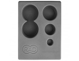 RAD Block I Foam Yoga Block in Gray with Storage for Myofascial Release Self Massage Mobility and Recovery