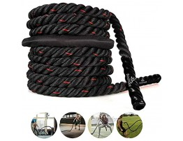 Battle Rope with Anchor Strap Kit 30 Ft Length Upgraded Exercise Training Rope of High Tensile Strength Poly Dacron Undulation Heavy Battle Ropes for Strength Training Fitness Exercise Rope 30