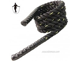 Heavy Jump Rope 3LB Weighted Skipping Rope Workout Battle Ropes for Men Women Total Body Workouts Power Training Improve Strength Building Muscle