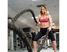 VIVITORY Heavy Battle Rope with Anchor Strap Kit Workout Equipment for Core Strength Home Gym & Outdoor Workout Available in 1.5 Dia 30 40 50ft