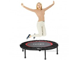 LANGY 40-inch Adult Trampoline Fitness Trampoline with Safety mat and Safety handrail Stable and Quiet Sports Back Board Suitable for Indoor Garden Sports for Children and Adults Red
