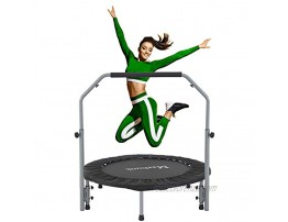 Maxhunk 40 Mini Trampo-line for Adults Kids Fitness Rebounder with Adjustable Foam Handle Rebounder Trampo-line for Adults Outdoor Indoor Workout Max Load 330lbs