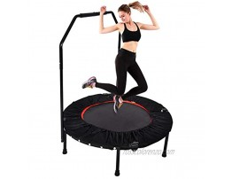 YUSING 40 Mini Trampoline Rebounder Portable & Foldable Exercise Trampoline with Handrail for Adults Kids Body Fitness Training Workouts Indoor Garden Workout Cardio Max Load 330 lbs