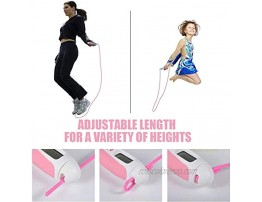 Jump Rope Digital Weight Calories Time Setting Skipping Rope with Counter for Indoor and Outdoor Exercise Adjustable Rope Workout jumprope for Kids,Women,Men