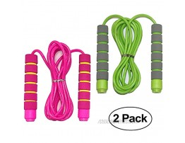 Jump Rope for Kids Adjustable Soft Skipping Rope with Skin-Friendly Foam Handles for Kids Boys Girls Children Outdoor Fun Activity Great Party Favor Exercise Activity & Fitness