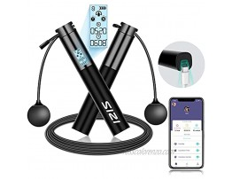Smart Jump Rope Sizi USB Rechargeable Jump Rope & Cordless Jump Rope with APP Data Analysis Smart Data Counting Indoor and Outdoor Cardio Workout Fitness Gym Burn Calorie for Adults Teens Kids
