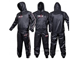 DEFY Heavy Duty Sweat Suit Sauna Exercise Gym Suit Fitness Weight Loss Anti-Rip with Hood
