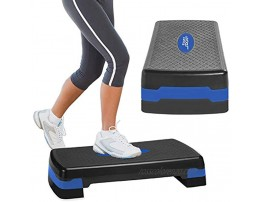 Aduro Sport Aerobic Exercise Step Deck Adjustable Workout Fitness Stepper Exercise Platform with Risers