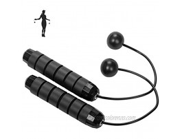 Cordless Jump Rope Home Exercise Adjustable Ropeless Speed Skipping Rope for Men Women Child Tangle Free Indoor Gym Workout Fitness Crossfit Training Accessories for Any Ages and Levels