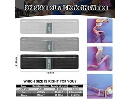 Fitaway Resistance Bands Set for Women & Men Legs and Butt Wide Circle Non-Slip Stretch Booty Bands Set of 3