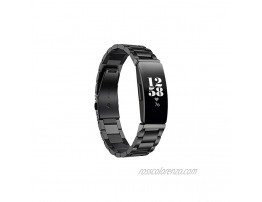 Aresh Compatible with Fitbit Inspire HR Fitbit Inspire 2 Bands Stainless Steel Metal Replacement Strap for Fitbit Inspire 2  Fitbit Inspire Fitbit Inspire HR Fitness TrackerBlack